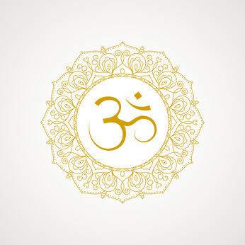 goldenes Om Symbol Om Zeichen