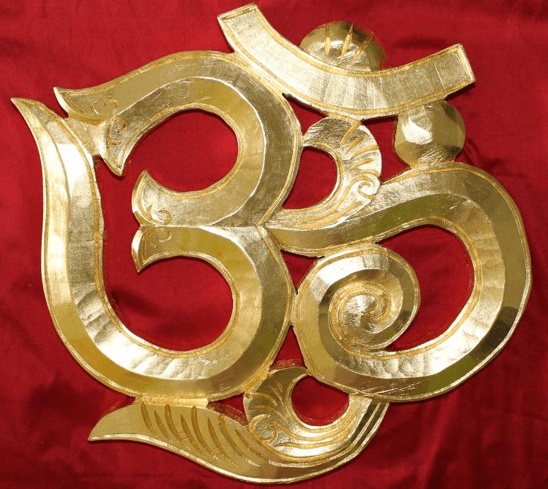 OM Zeichen Gold